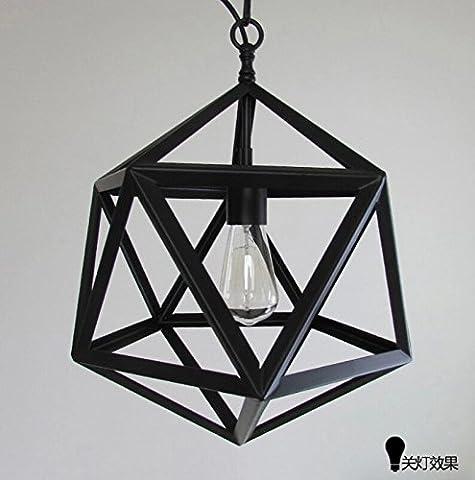 PinWei@Many facets of iron chandeliers, LOFT diamond chandelier, birdcage chandelier,350*350,Black