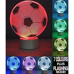 Optical Illusion 3d Football Lamp–Lámpara de fútbol