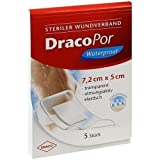 DRACOPOR waterproof Wundverband 5x7,2 cm steril 5 St Verband