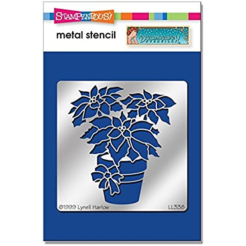 Stampendous DWLL338 Dreamweaver Stencil, Poinsettia by