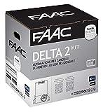 Télécommande FAAC Delta 2Kit automatisme pour portail coulissant à usage résidentiel avec poids max 500kg avec lampeggiatore 230V moteur Encoder inclus et paire de photocellules XP 1056303445