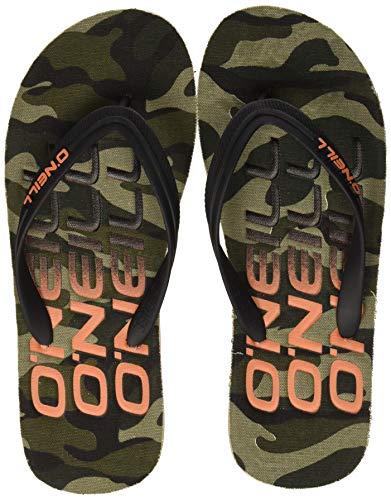 O'Neill FM Profile Sandals, Chanclas para Hombre, Verde Green AOP 6900, 47 EU