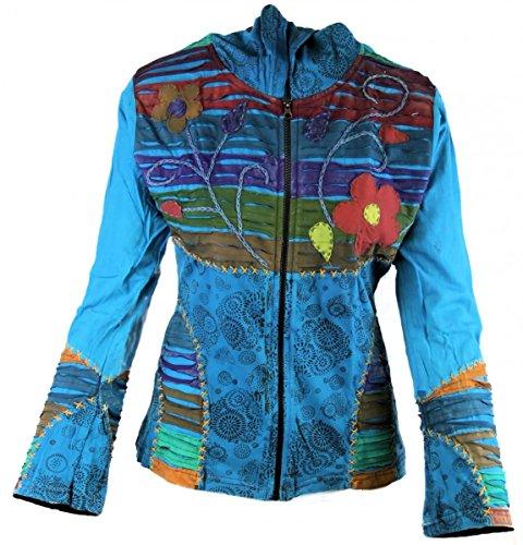 Dark Dreams Ethno Nepal Witchy Pagan Hoodie Jacke Razorcut Kapuze Psy alternative Kleidung 38 40 42 44 46 48 Neu, Größe:L/XL, (Kostüme Psy)