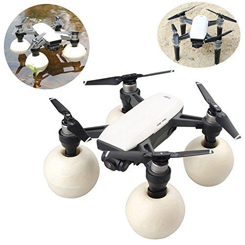 Kismaple para DJI Spark Drone Tren de aterrizaje + Bola flotante Impermeable Antiarañazos a prueba de golpes Accesorios de kits de aterrizaje (Negro)