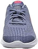 NIKE Herren Jungen Laufschuh Revolution 4 (GS) Sneakers, Mehrfarbig (Ashen Slate/Flash Crimson/Diffused Blue 001), 39 EU - 4