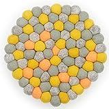 Filzkugel Untersetzer Rosa Topfuntersetzer bunt 20 cm per Hand aus reiner Merino Wolle gefertigt