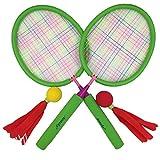 Aoneky Kinder Badminton Spiel Set mit Zwei Schaumstoff-Bälle, Hot Outdoor Spielzeug für Kinder über 3Jahren