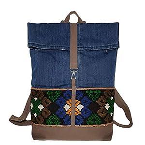 Damen Rucksack Ethno Rucksack Damen klein Tagesrucksack Damen Business Rucksack Daypack Damen Denim Backpack Woman…