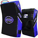 Farabi Quad Curved Strike Shield Training Arm Pad Boxing MMA Muay Thai Kick Boxing Punching Kick Shield Taekwondo Karate Martial Arts (Black Blue)