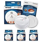 Nemaxx SP5Detector de humo NF?Calidad Detector?Detector de Fuego Certificado Din En 14604y NF Certificado?Color Blanco, SP5NX
