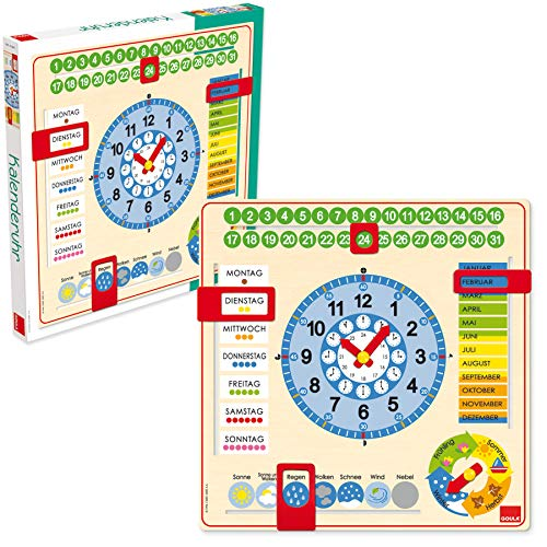 Jumbo D51309 Goula Kalender-Uhr, bunt