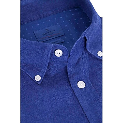 Schoffel GMT Dye Linen Mens Shirt Indigo