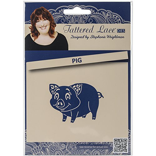 Get Create and Craft Metal Tattered Lace Die-Pig Special