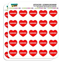 "2.5cm (1"") Scrapbooking Crafting Stickers I Love Heart Food H-L"