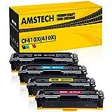 Amstech 4Pack Kompatibel Tonerkartusche für HP 410X HP410A CF410X CF411X CF412X CF413X CF410A für HP Color Laserjet Pro MFP M477fdn m477fdw M477fnw M477 MFP M377dw M377 M452dn M452nw M452dw Drucker