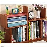 Bücherregale HUO Kleines Einfache Tisch Mini Student Schreibtisch Lagerung Lagerung Rack-51 * 17 cm (Farbe : Teak)