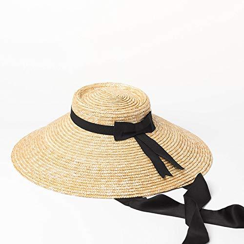 zce Sonnenhüte, Europa Und Die Vereinigten Staaten Retro Flache Top Fliege Stroh Gras Hüte Bühne Modenschau Strand Strohhut Stroh Top