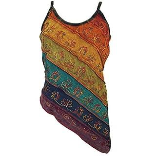 Guru-Shop Stonewash Goa Top, Damen, Regenbogen 4, Baumwolle, Size:S/M (36), Tops, T-Shirts, Shirts Alternative Bekleidung