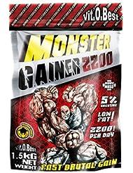 Vit-O-Best Monster Gainer 2200, Suplementos Alimentarios para Deportistas, Sabor a Limón - 1500 gr
