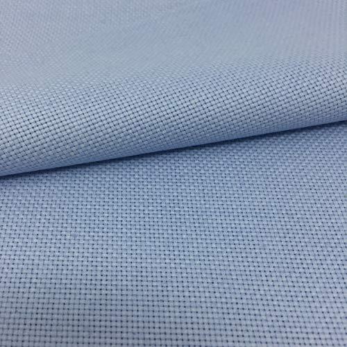 Stoff für Kreuzstich, 75 cm x 50 cm, 5,5 Stiche/cm, 14 Perlen, 100% Baumwolle, Wählen Sie die Farbe aus Delicatela 75cm x 50cm hellblau