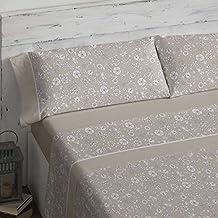 Burrito Blanco Juego de sábanas 462 Piedra de cama de 150x190/200 cm
