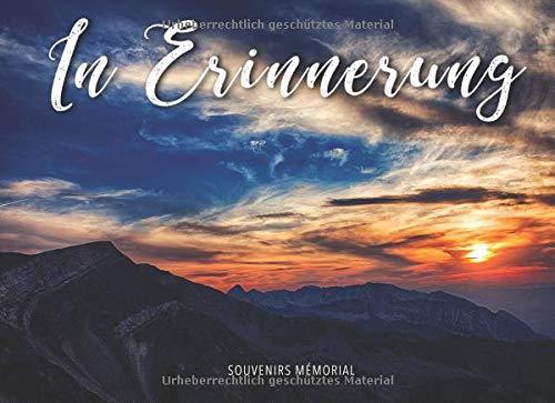 In Erinnerung: Begräbnis-Gästebuch (Sonnenuntergang über den Bergen) -