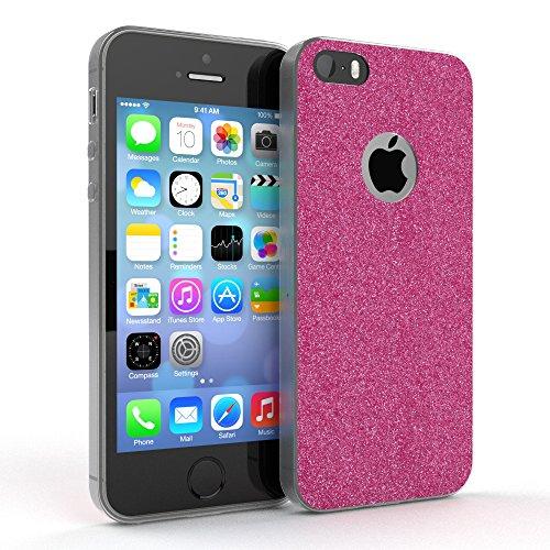"""Apple iPhone SE / 5S / 5 Hülle, EAZY CASE Cover """"Henna"""" - Premium Handyhülle mit Indischer Sonne - Transparente Schutzhülle in Blau / Pink Transparent Pink"""