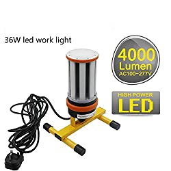 Choen 36W 110V 240V led Work Light site Light led Task Light,4000 Lumens 360°Lighting Angle,Equal to 120-175W Metal Halide Work Light,Both Used in Indoor and Outdoor (36W)