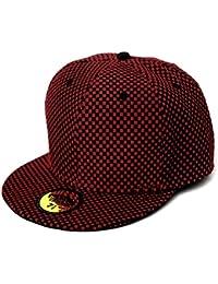 LOCOMO Men Women Check Checker Pattern Baseball Cap FFH228BLKs57