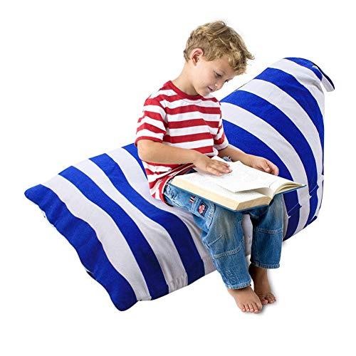 pretty-H Kinder Sitzsack Lagerung Sitzsack Sofa Bequeme Sitzgelegenheiten, extra große Spielzeug Aufbewahrungstasche für Kinder Jugendliche und Erwachsene, weiche Toy Organizer