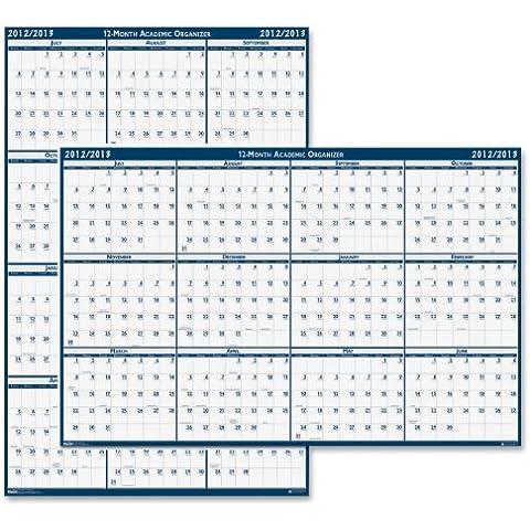 Poster, reversibile e cancellabili anno accademico calendario, 37 x 24, 2015-2016, 1 pezzo