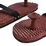 Vian Unisex Crafts'Man Wooden Relaxing Acupressure Foot/Feet Massager Slippers For Good Health