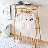 LJMY Garderobe Stander Massivholz Kleiderbügel Einpolig Wäschebaum Einfach Geeignet für Schlafzimmer Wohnzimmer und Andere Szenen (Farbe : 80cm)