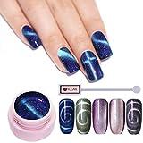 UR SUGAR 5ml Cat Eyes UV Nagellack Kit, Magic Box Chameleon Nagelgel 5D Magnetisch,Holografischer Laser Gellack Glitzern, 6 Flaschen mit 1 Magnetischer Stick