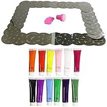 Kurtzy TM Set 30 Placas de Estampar Uñas con Diseños y 12 Esmaltes - 240 Diseños