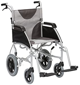"""Drive DeVilbiss Healthcare Ultra Lightweight Enigma Transit Wheelchair with 17"""" Seat Width"""