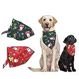 Comtervi Hund Halstuch Dreiecks-Tuch Bandana geeignet Haustierhalstuch, Bandana für Kleine, mittelgroße und große Hunde, Hundezubehör Hund Halstuch Weihnachten