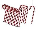 Zuckerstangen zum Hängen Rot Weiß 13cm Baumschmuck Weihnachten Anhänger Landhaus (60 Stück)