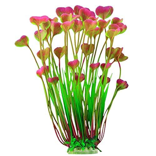 MSYOU Aquarium-Landschaftsdekoration, Kunststoff, Wassergras, Aquarium, Dekoration künstliche Wasserpflanzen für Aquarien, Rosa