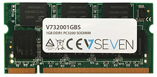 V7 V732001GBS Notebook DDR1 SO-DIMM Arbeitsspeicher 1GB (400MHZ, CL3, PC3200, 200pin, 2.6 Volt) -