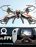 TONPAR UDI R / C 818S RC Quadcopter mit HD-Kamera und FPV Echtzeit-Übertragung 360 Flip, 4CH RC 6 Achsen Drone , black