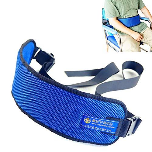 SXTYRL Sicherheitsgurt für Rollstühle Patientenpflege Atmungsaktive Feste Sicherheitsgurte mit eingeschränkter Länge Stuhl Taille Beckengurt für ältere Personen (120 × 12 cm)