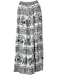 DIAMO Women's Rayon Skirt (Black & White)