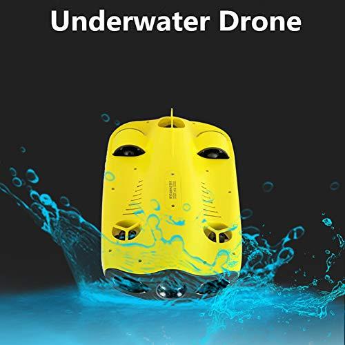 Mini Drones Cinq Roues Motrices Miniature sous-Marine sous-Marine Drone Plongée Drone avec 4K Appareil Photo avec Un Seul Bouton De Verrouillage Profondeur 100M Jaune