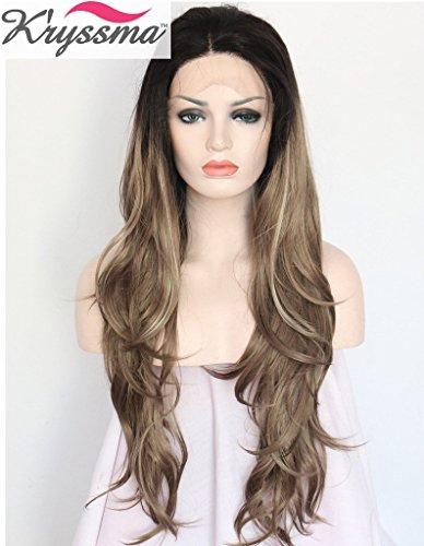 kryssma-ombre-golden-dark-borwn-mixed-blonde-highlights-wavy-wigs-for-women-dark-roots-long-wavy-sof