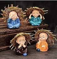 Jaipur Ace Set of 4 Hat Monk Beautiful Miniature Decorative