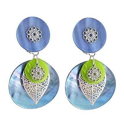 Boucles d'oreilles à clips One bleu