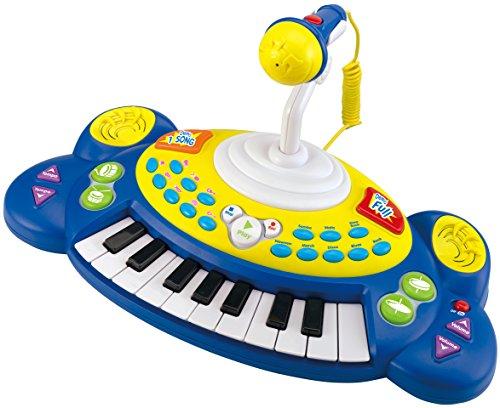 Preisvergleich Produktbild Winfun Beat Bop Keyboard 18 Tasten Klavier mit Mikrofon Sounds uvm