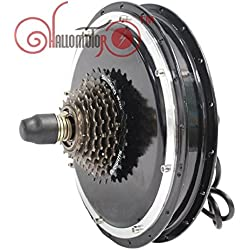 Ebike Rear Hub Motor 36V 48V 1500W Width 145mm with Gear Electric Bicycle Brushless Gearless Cycling Conversion Kits