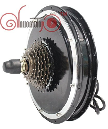 Ebike Rear Hub Motor 36V 48V 1500W Width 145mm with Gear Electric Bicycle Brushless Gearless Cycling Conversion Kits -
